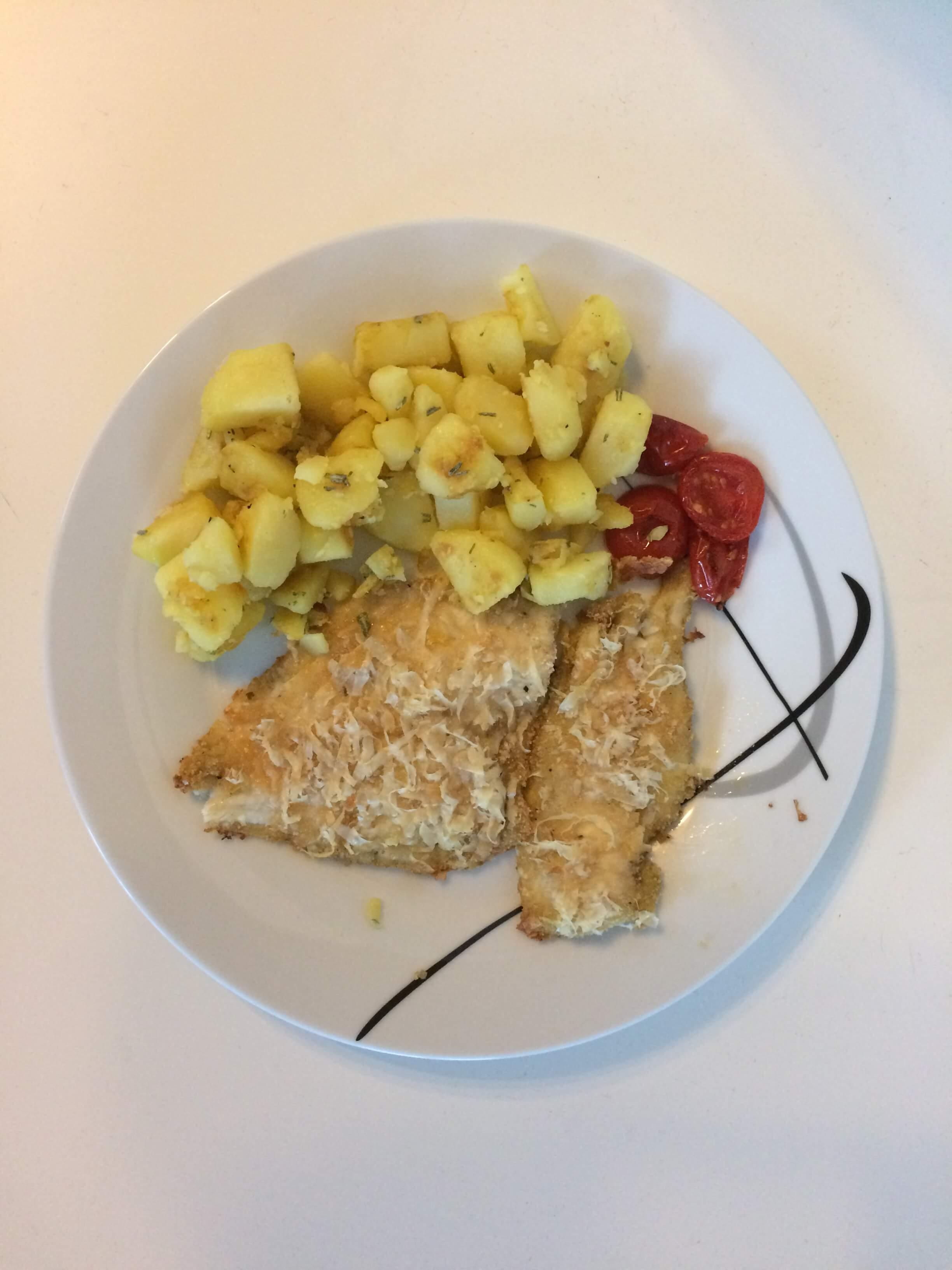 Fischfilet in Parmesankruste