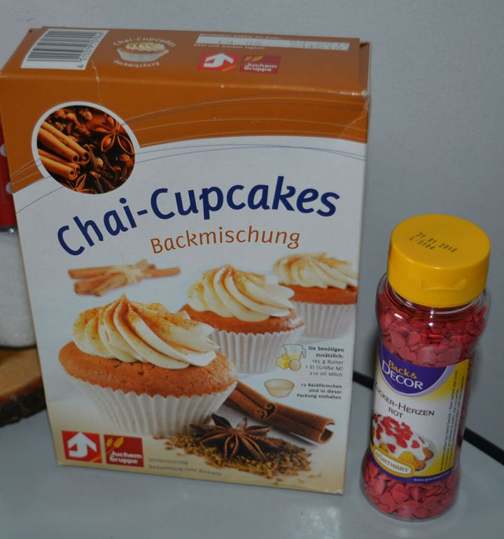 Valentinstags-Chai-Cupcakes