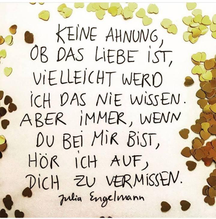 Keine Ahnung Ob Das Liebe Ist Zitate Julia Engelmann Keine